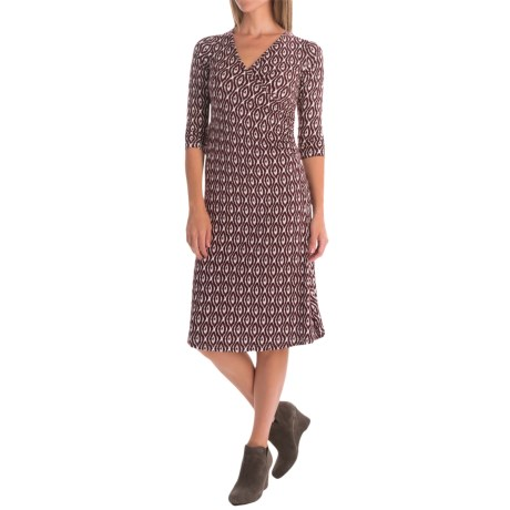 Yala Grace Dress - V-Neck, 3/4 Sleeve (For Women)