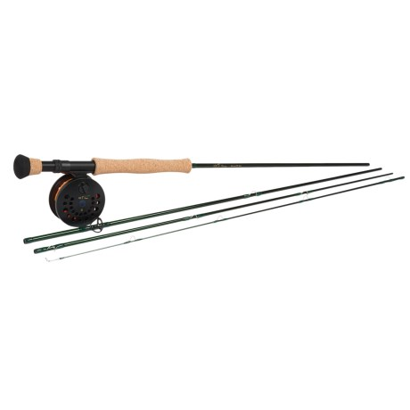 Temple Fork Outfitters NXT II Series Fly Reel and Rod Combo - Spooled Line