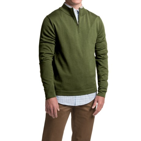 1816 by Remington Spring Creek Sweater - Merino Wool, Zip Neck, Long Sleeve (For Men)