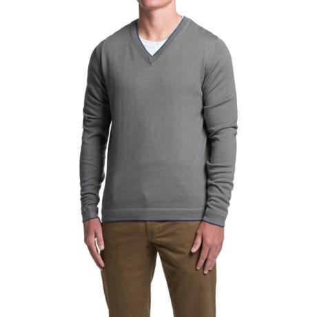 1816 by Remington Spring Creek Sweater - Merino Wool, V-Neck (For Men)