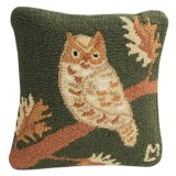 """Chandler 4 Corners Hooked Wool Decorative Pillow - 14"""", Square"""