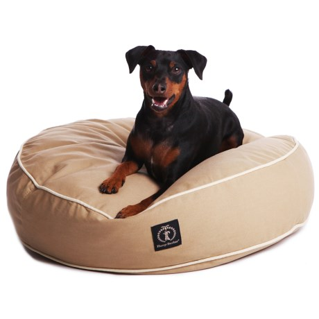 """Harry Barker Solid Round Dog Bed - Small, 25"""""""