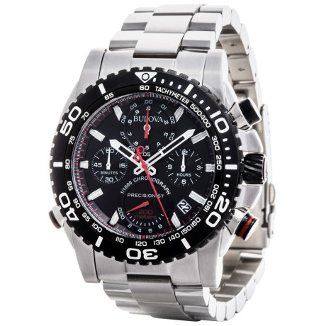 Bulova Precisionist Chronograph Quartz Rotating Bezel Watch - Stainless Steel Bracelet (For Men)
