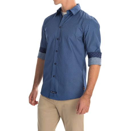English Laundry Diamond Print Sport Shirt - Long Sleeve (For Men)