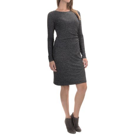 Side-Ruched Dress - Long Sleeve (For Women)