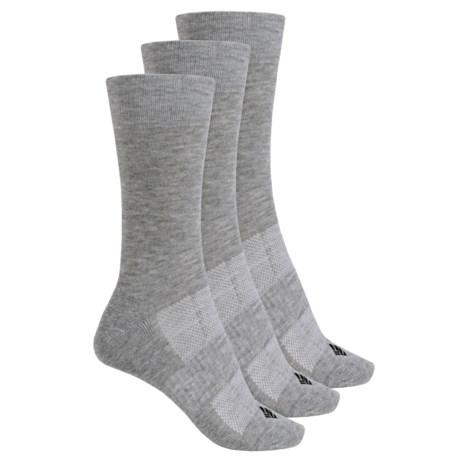 Columbia Sportswear Flat Knit Socks - 3-Pack, Crew (For Women)