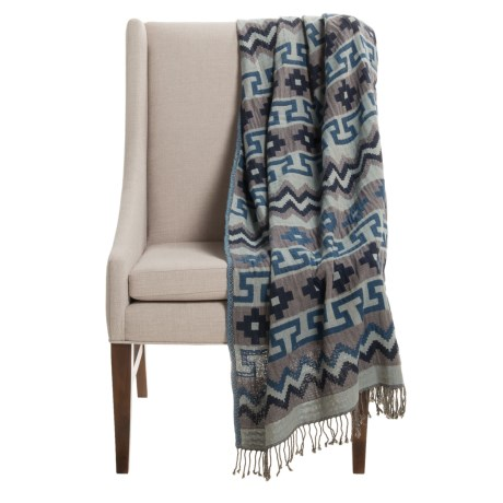 "Melange Home Mojave Throw Blanket - 50x70"", Cotton-Wool"