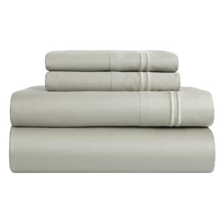 Melange Home Border-Stripe Sheet Set - King, 600 TC