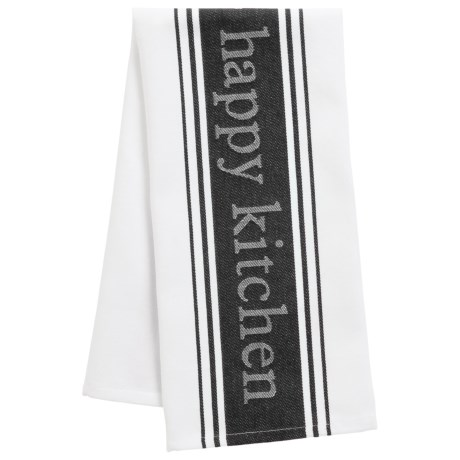 MUkitchen Loving Life, Happy Kitchen Towel - Cotton