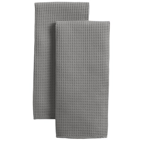 MUkitchen Microfiber Waffle Kitchen Towels - Set of 2