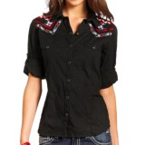 Panhandle Slim Aztec-Embroidered Western Shirt - Snap Front, Long Sleeve (For Women)