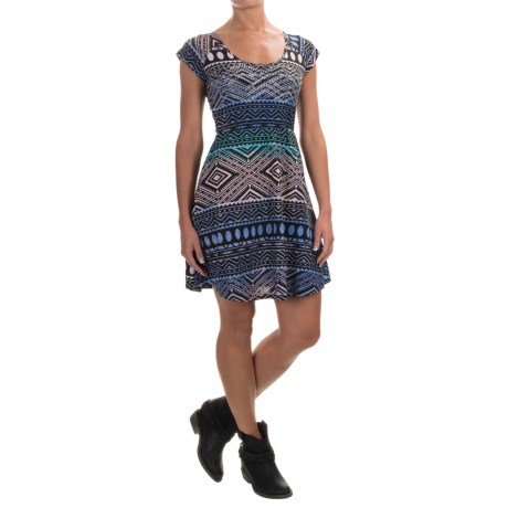Rock & Roll Cowgirl Printed Rhinestone Dress - Short Sleeve (For Women)