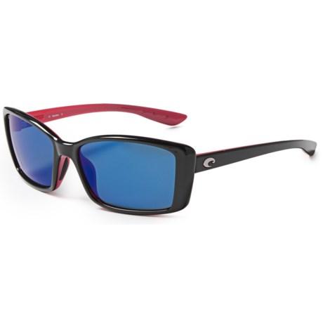 Costa Pluma Sunglasses - Polarized 580P Mirror Lenses (For Women)