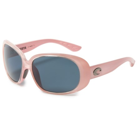Costa Hammock Sunglasses - Polarized, Mirrored 580P Lenses (For Women) in Black/Gray - Closeouts