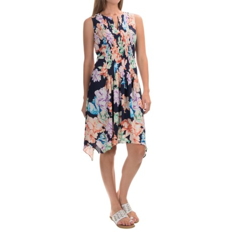 NYDJ Printed A-Line Dress with Built-In Shapewear Lining - Sleeveless (For Women)