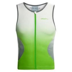 Craft Elite Triathlon Cycling Jersey - UPF 50+, Sleeveless (For Men)