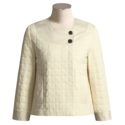 Joan Vass Crop Jacket - Quilted Knit (For Women)