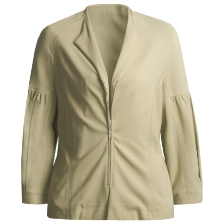 Joan Vass Double-Knit Zip Jacket (For Women)
