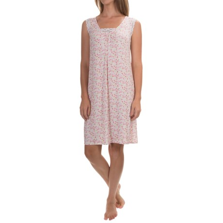 Aria Rayon Jersey Nightgown - Sleeveless (For Women)