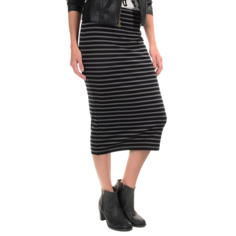 Sanctuary Striped Stretch Pencil Skirt (For Women)