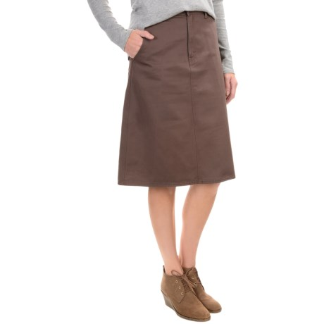 Cotton Twill Skirt - Flat Front (For Women)