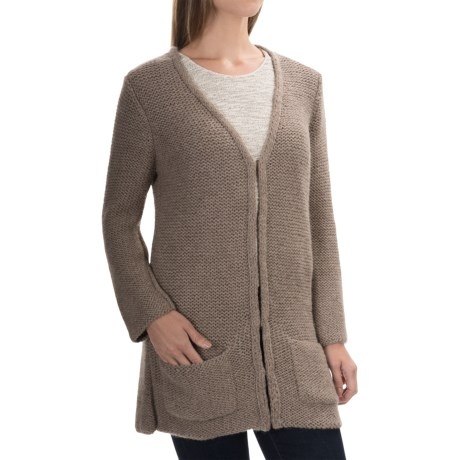 Alicia Adams Alpaca Beehive Cardigan Sweater (For Women)