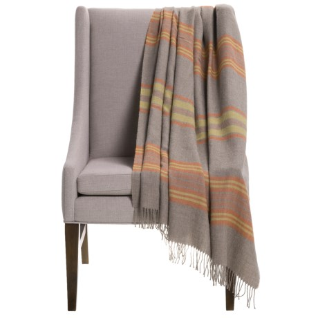 Alicia Adams Alpaca Campagne Wrap/Throw Blanket - Baby Alpaca, 51x71""