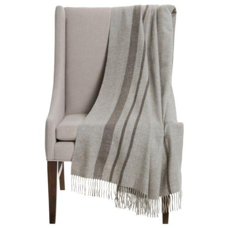 """Alicia Adams Alpaca Baby Alpaca Striped Throw Blanket - 51x71"""""""