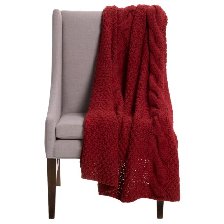 "Alicia Adams Alpaca Baby Alpaca Handmade Throw Blanket - 51x71"""