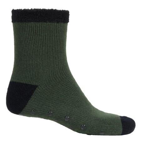 Legale Duo-Layer Slipper Socks - Slip Resistant, 3/4 Crew (For Men)