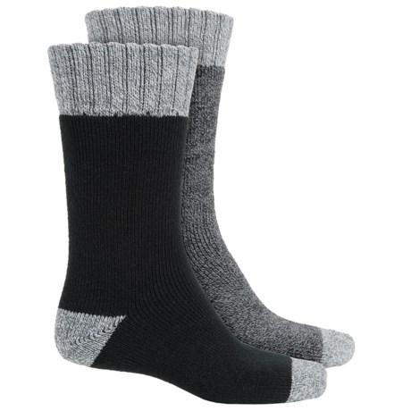 Legale Mid Cabin Slipper Socks - 2-Pack, Crew (For Men)