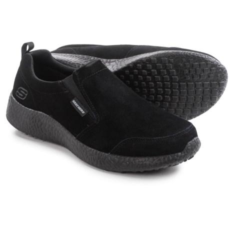Skechers Burst Slight Edge Shoes - Suede, Slip-Ons (For Men)