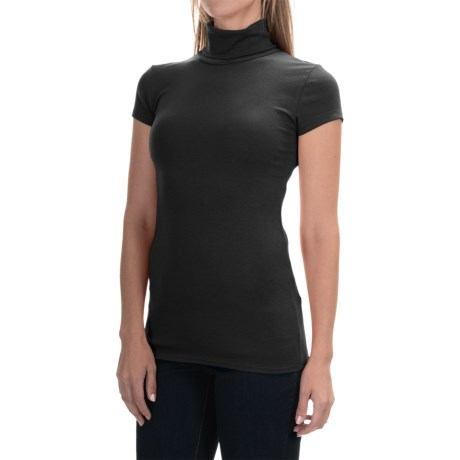 Philosophy Stretch Turtleneck - Short Sleeve (For Women)