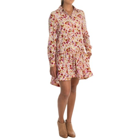 Philosophy Republic Clothing Printed High-Low Dress - Long Sleeve (For Women)
