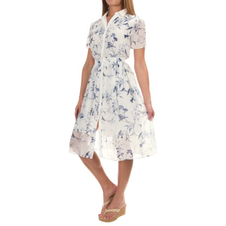 Philosophy Republic Clothing Philosophy Printed Button-Down Dress - Short Sleeve (For Women)