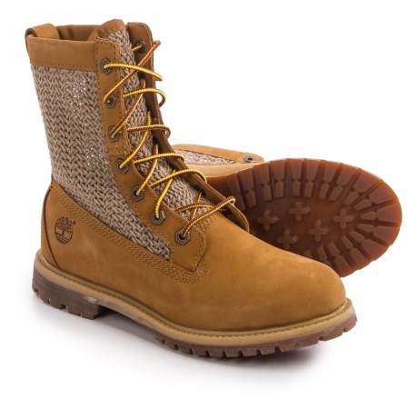 "Timberland Authentics Open Weave Boots - Nubuck, 6"" (For Women)"