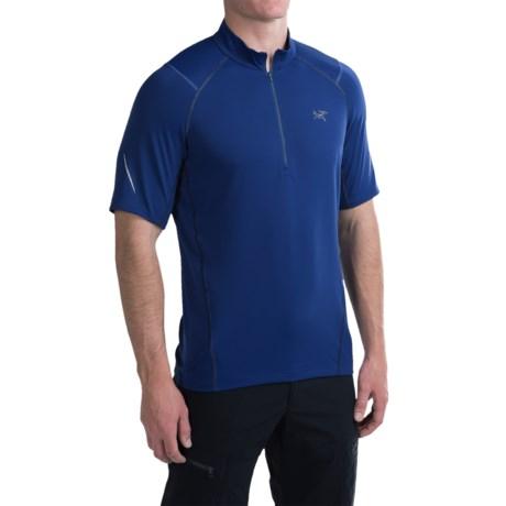 Arc'teryx Arc'teryx Accelerator T-Shirt - UPF 45, Zip Neck, Short Sleeve (For Men)