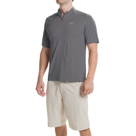 Arc'teryx Arc'teryx Velox Shirt - Zip Neck, Short Sleeve (For Men)