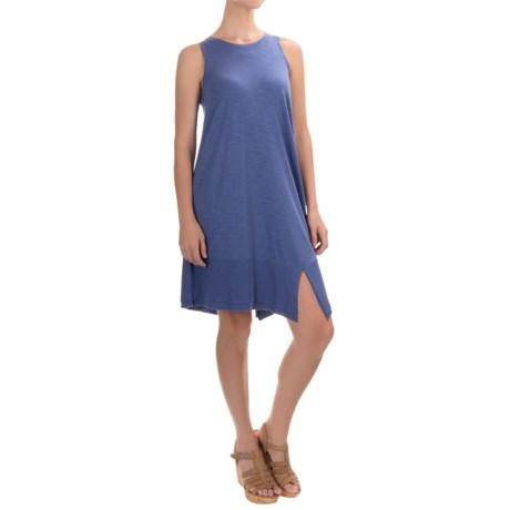 Lilla P Ribbed Bottom Tank Dress - Pima Cotton-Modal, Sleeveless (For Women)