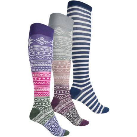 Sperry Boxed Gift Set Knee-High Socks - 3-Pack, Over the Calf (For Women)