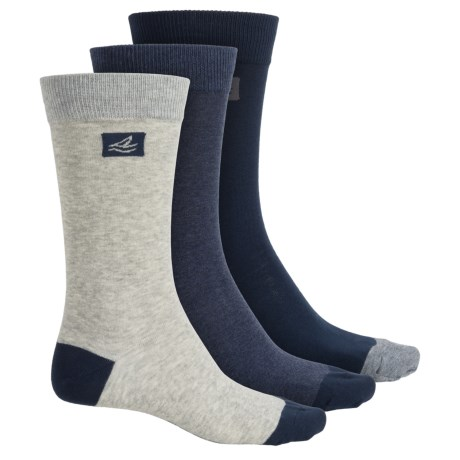 Sperry Casual Crew Socks - 3-Pack (For Men)