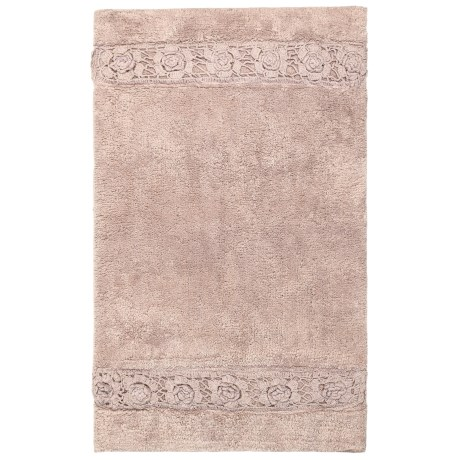 Vista Home Fashions Renaissance Floral Border Bath Rug - 21x34""