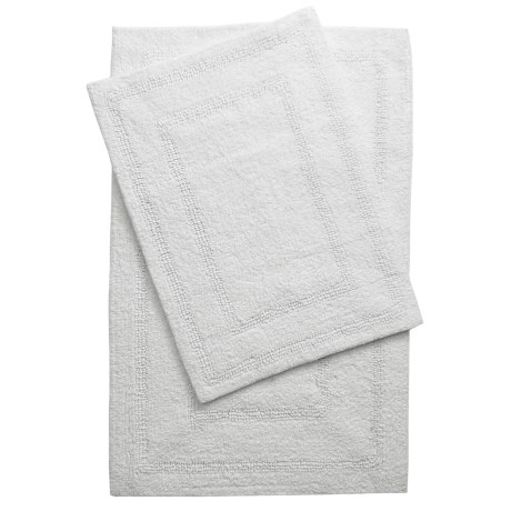 Vista Home Fashions Grand Hotel Collection Tranquil Cotton Bath Rugs - Set of 2, Reversible