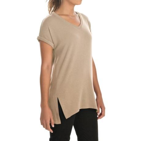 Cupio Blush Drop-Shoulder Shirt - Short Sleeve (For Women)