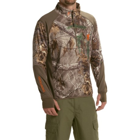 Browning Hell's Canyon High-Performance Fleece Jacket - Zip Neck (For Men)