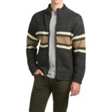 Laundromat Sidney Cotton-Lined Sweater - Front Zip (For Men)