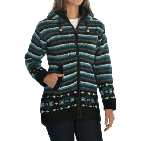 Laundromat Alycia Fleece-Lined Sweater - Hooded (For Women)