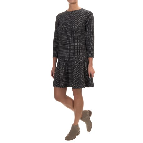Dropped-Waist Knit Dress - Long Sleeve (For Women)