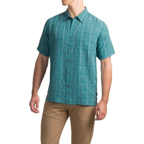 White Sierra Batista Plaid Shirt - Short Sleeve (For Men)