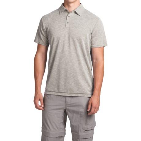 White Sierra Traveler Knit Polo Shirt - Short Sleeve (For Men)